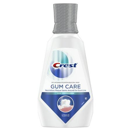 Crest Gum Care Mouthwash, Cool Wintergreen, 33.8 fl.