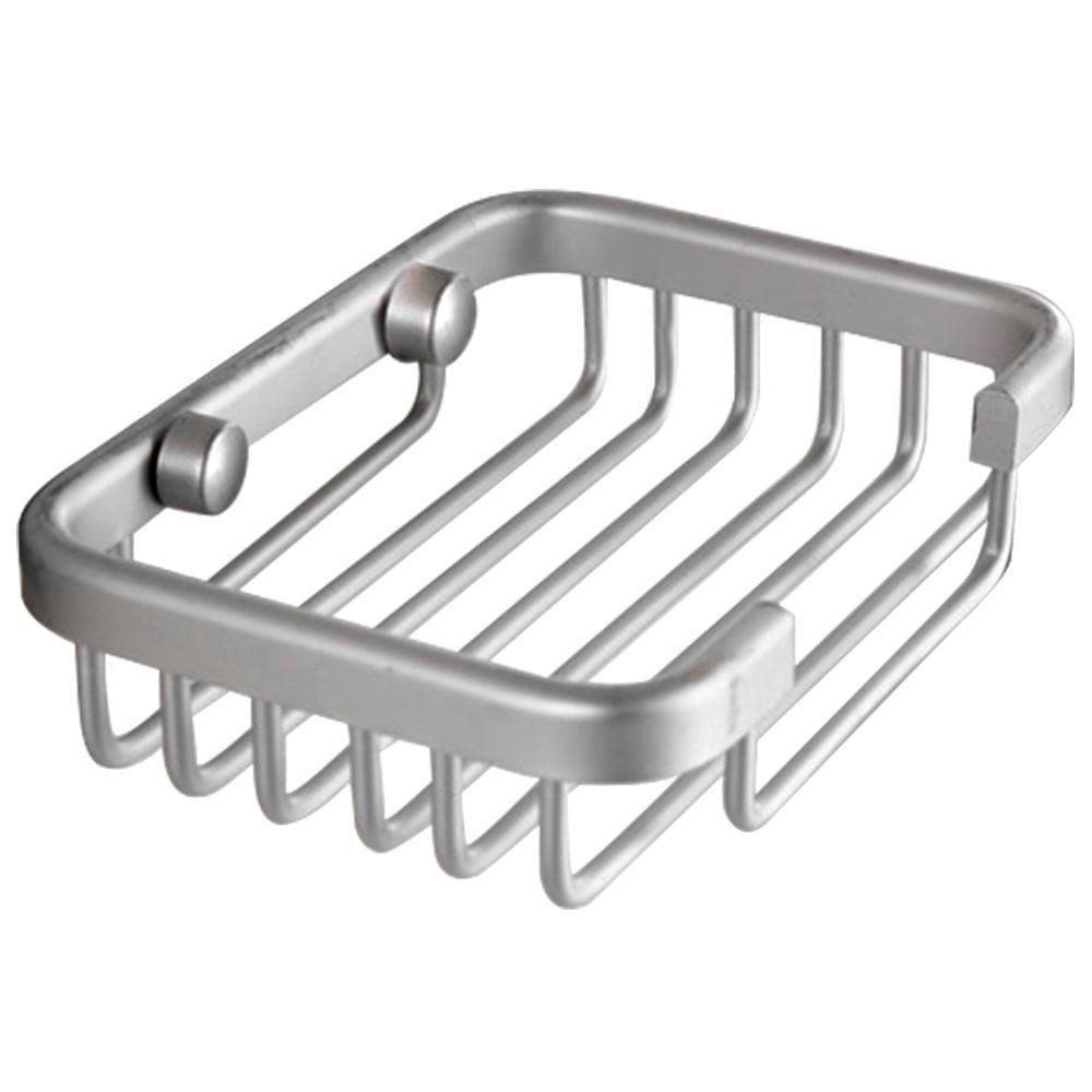 Aluminum Soap Dish Bathroom Shower Toilet Soap Holder Saver Basket