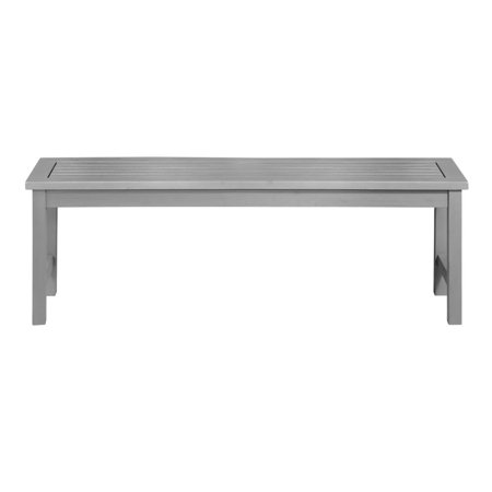 Excellent Solid Acacia Wood Patio Outdoor Dining Bench Grey Wash Uwap Interior Chair Design Uwaporg