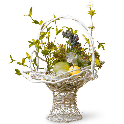 National Tree Co. Floral Easter Basket with Egg