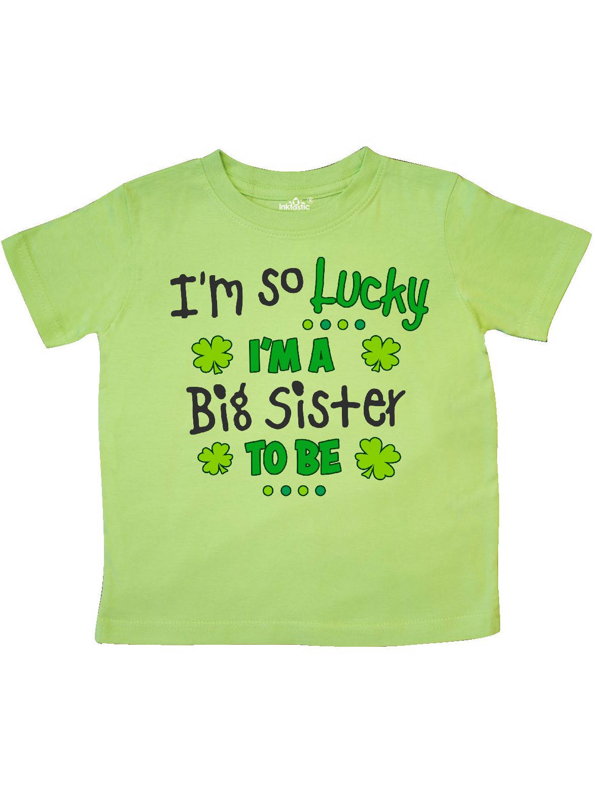 inktastic Im So Lucky Im a Big Sister to Be Toddler T-Shirt
