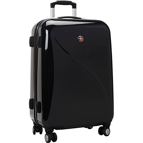 "Wenger SwissGear Hardside Lightweight Luggage 24"" Spinner Upright - TSA Lock"