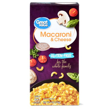 (6 Pack) Great Value Gluten-Free Macaroni & Cheese, 6