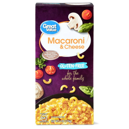 (6 Pack) Great Value Gluten-Free Macaroni & Cheese, 6 oz