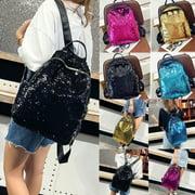 Fashion Women Girls Sequins Mini Backpack Travel School Satchel Shoulder Bag Ruckrack