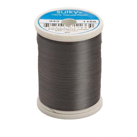 King Spool - 268d 40wt 2-Ply Rayon Thread, 850 yd, Medium Steel Grey, King Snap Spool. 100% Silky Sheen Rayon By Sulky Of America