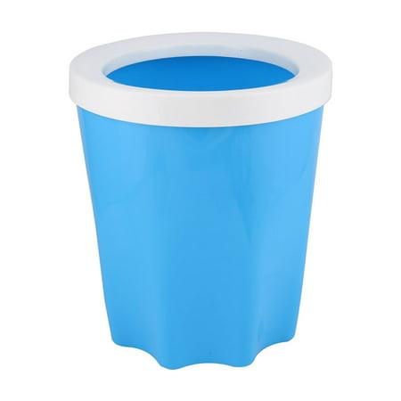 kitchen bathroom plastic waste rubbish garbage trash can holder white blue. Black Bedroom Furniture Sets. Home Design Ideas