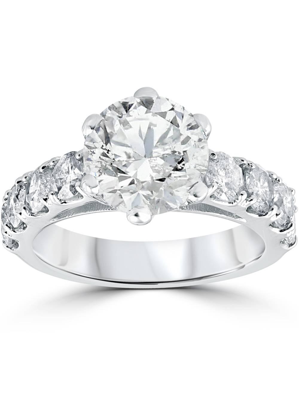 4 1 2 cttw Diamond Engagement Ring 14k White Gold Enhanced by Pompeii3