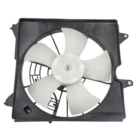 Drivers Radiator Cooling Fan Motor Assembly Replacement for Honda 3.5L 19015-R70-A01 ()