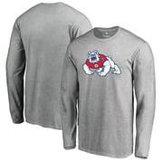 Fresno State Bulldogs Fanatics Branded Primary Logo Long Sleeve T-Shirt - Ash