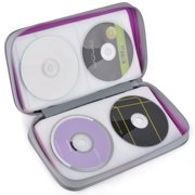 80 Capacity Hard Plastic CD Binder Protective CD Case Holder Portable CD Wallet Disc DVD CD Media Storage Organizer Carry Handbag with Zipper for Storage