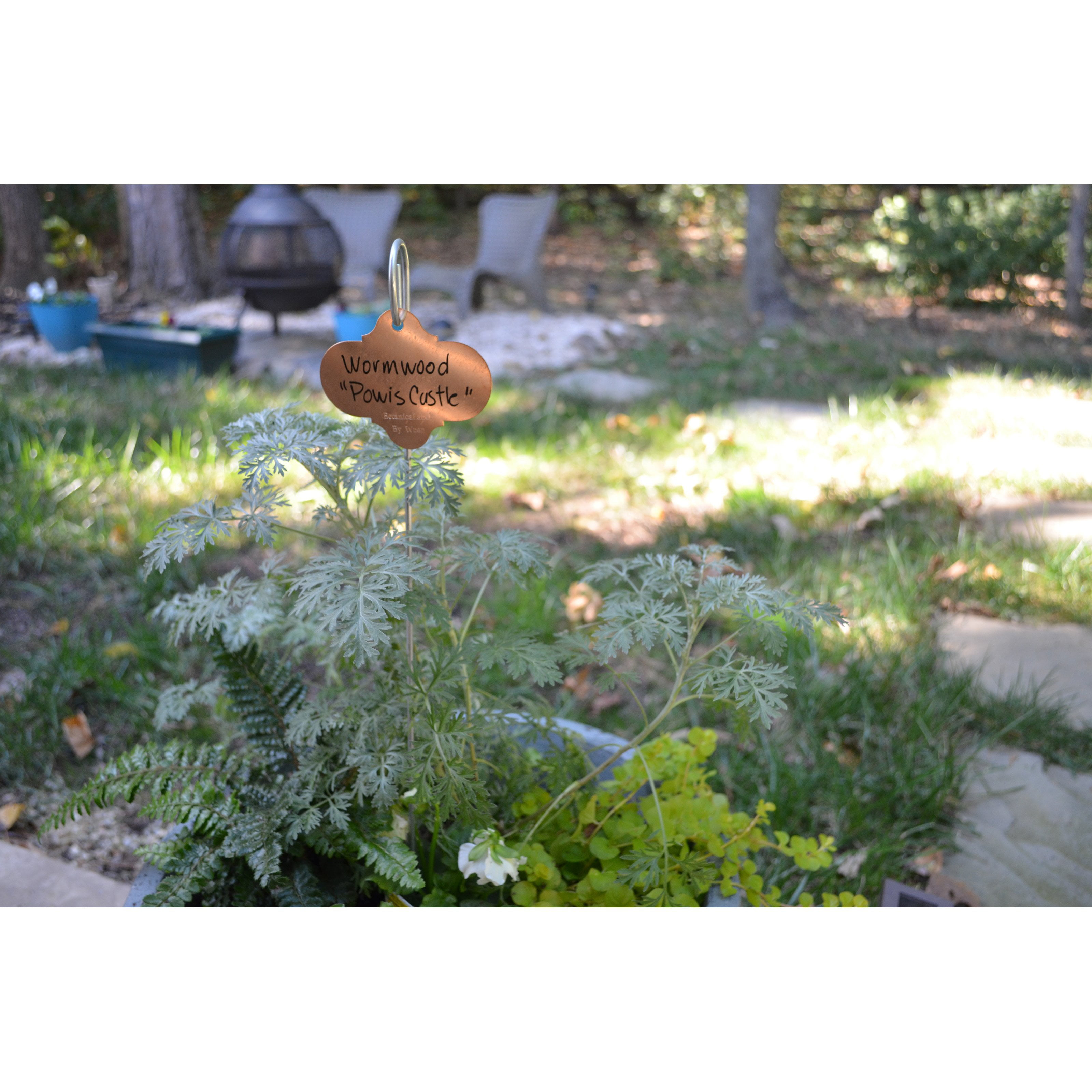 Bosmere 18 in. Garden Stakes with Copper Tags Pack of 50 by Bosmere