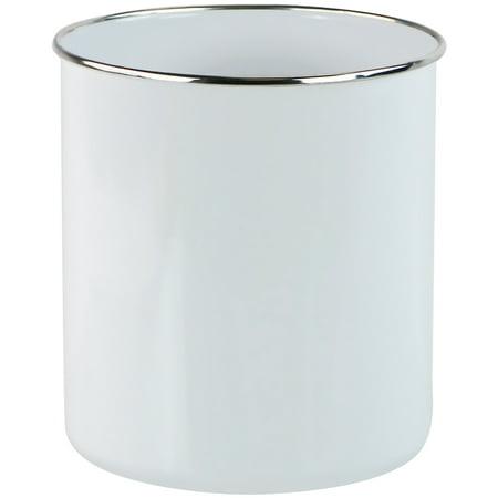 Calypso Basics, Large Enamel on Steel Utensil Jar, White