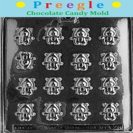 PLP-A026 Bite Size Teddy Bears Chocolate Candy Mold ()