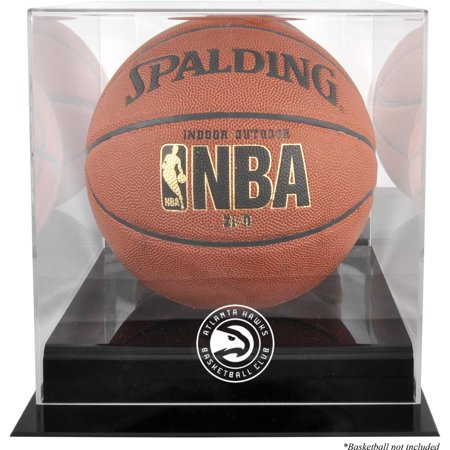 Atlanta Hawks Blackbase Team Logo Basketball Display Case with Mirrored Back - Fanatics Authentic Certified