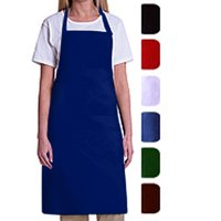 MHF Aprons, Bib Apron with Pockets, Royal Blue