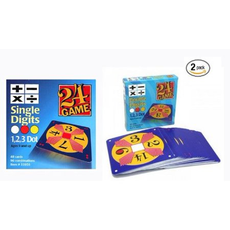 Pack Single Card - 24 Game Two Pack: Includes 48 Single Digit Cards and 48 Double Digit Cards and Exclusive Tips Sheet!, Single and Double Digit Value Pack with Exclusive Tips.., By InPrimeTime