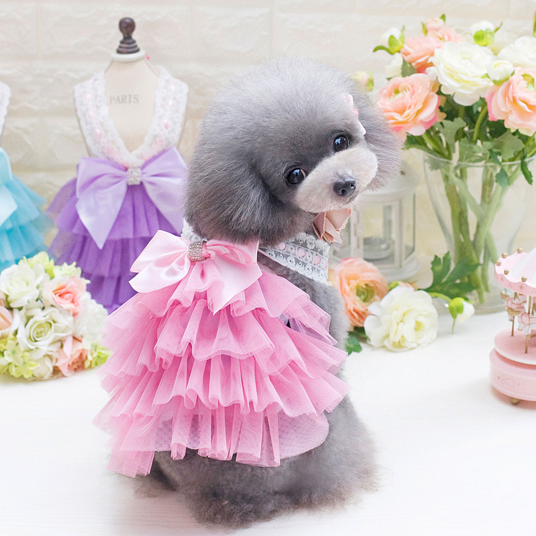 Fashion Sweet Puppy Dog Princess Skirt Pet Dog Summer Tutu Dresses