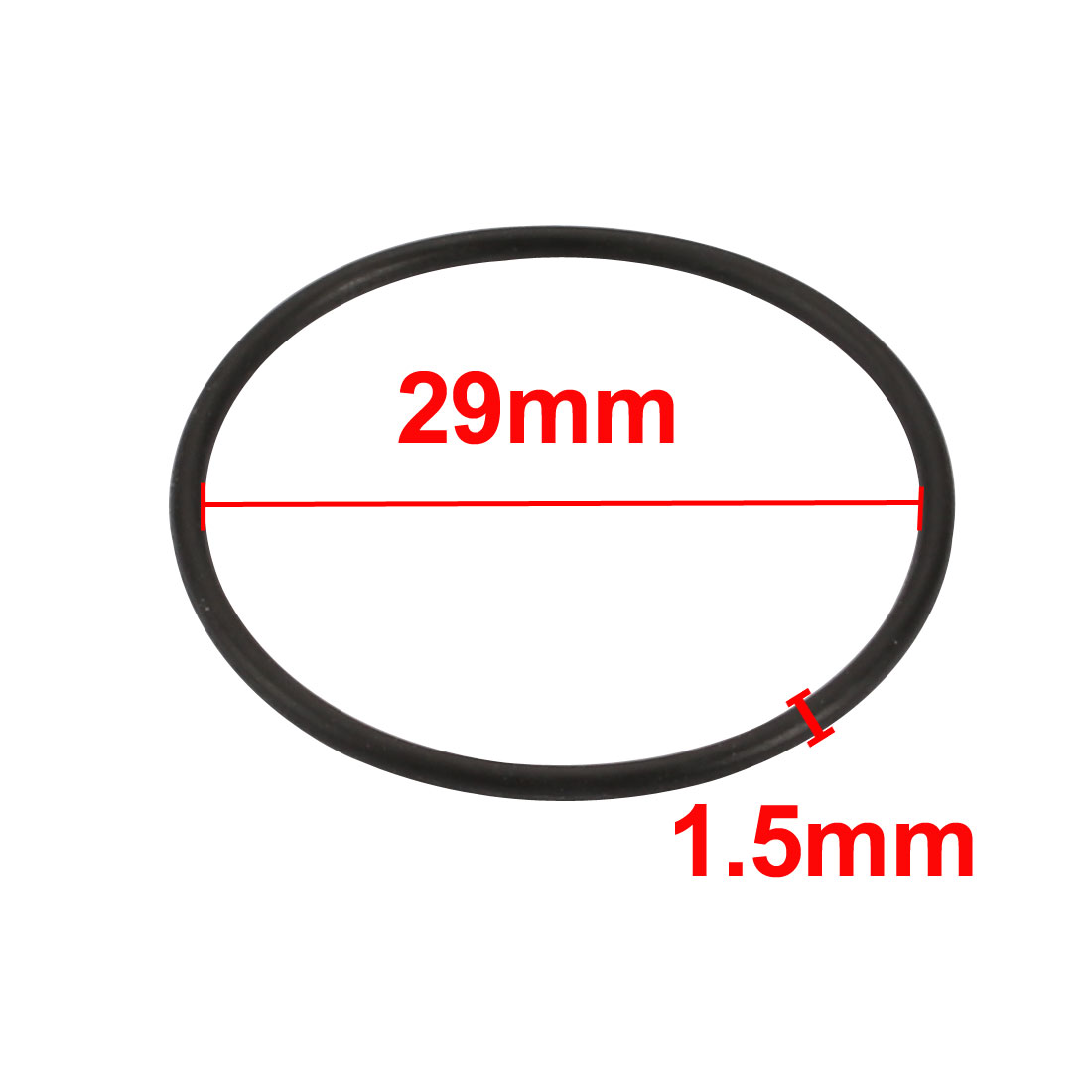 25pcs 33mm x 1.5mm Size Mechanical Rubber O Ring Oil Seal Gaskets Black - image 1 de 2