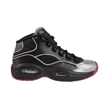 Reebok Question Mid A5 Jadakiss Big Kids Shoes Black/Silver Met/Red bd4332