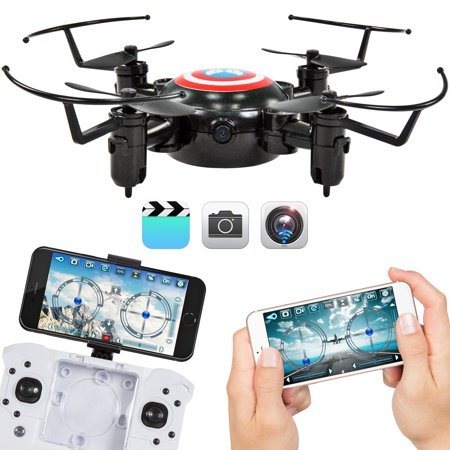 Best Choice Products 2.4GHz Folding Pocket Mini Drone w/ Altitude Hold, Smart Phone Control, WIFI Camera - (Best 6x9 Folding Camera)