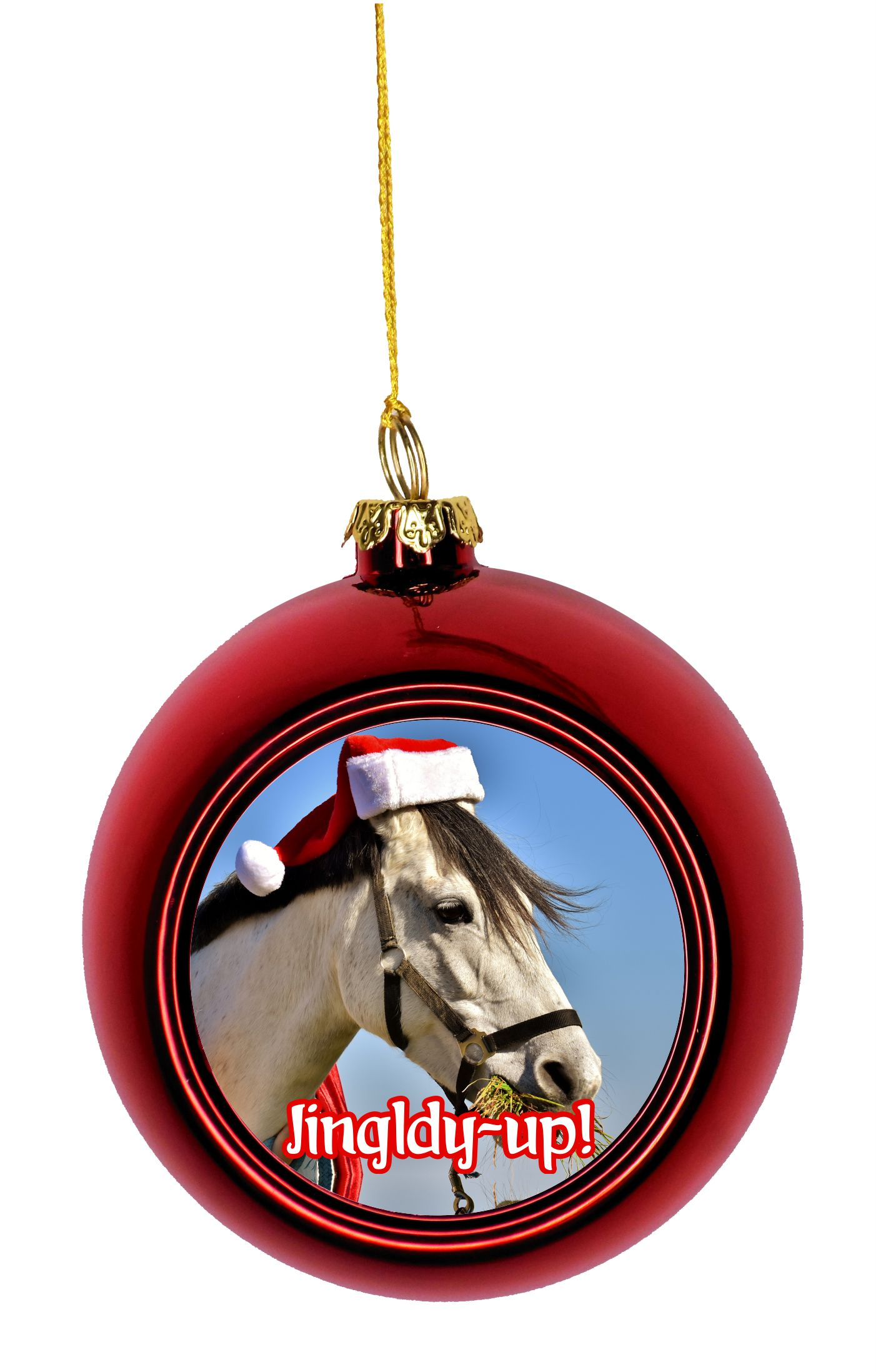 Personalised Horse Christmas Tree DecorationHorseshoe Xmas Bauble Gift