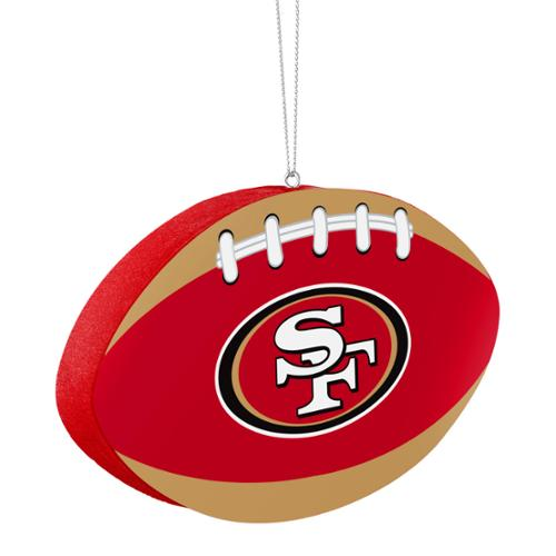 Christmas Tree Disposal San Diego: San Francisco 49ers Official NFL 4 Inch Foam Christmas