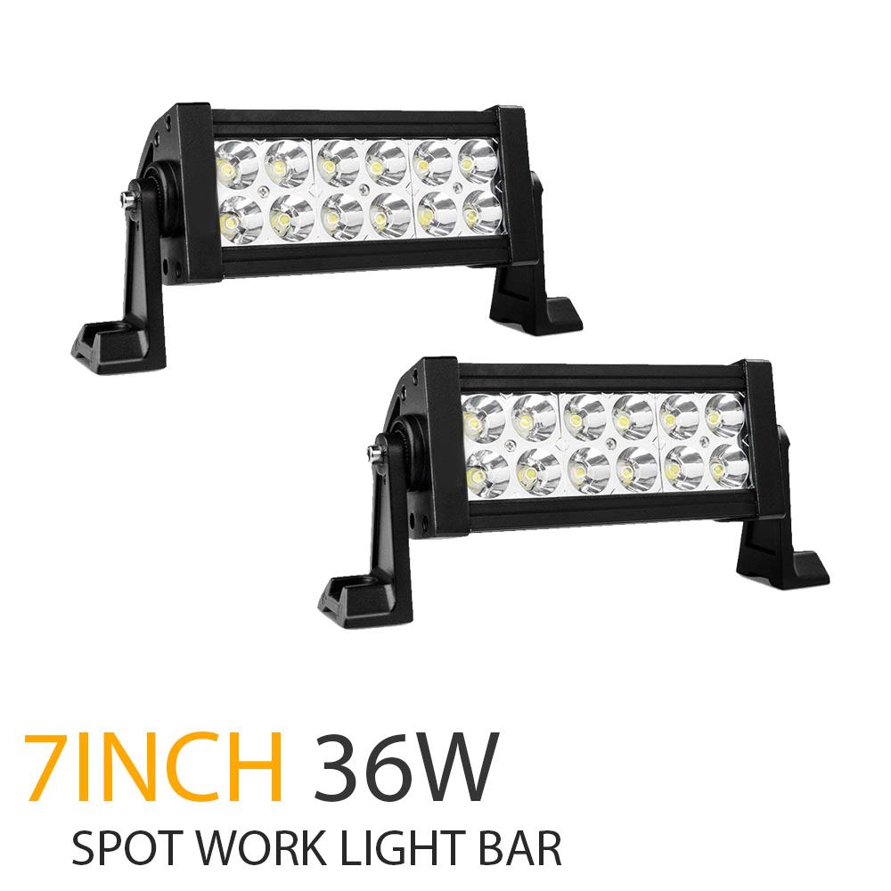"2PCS 7INCH LED Light Bar 1120W Work Lamp Combo Offroad SUV 4WD Boat Truck PK 42/"""