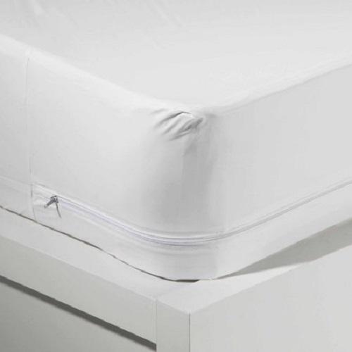 Zippered mattress protector Air Mattress Mainstays Waterproof Zippered Vinyl Mattress Protector White Walmartcom Walmart Mainstays Waterproof Zippered Vinyl Mattress Protector White