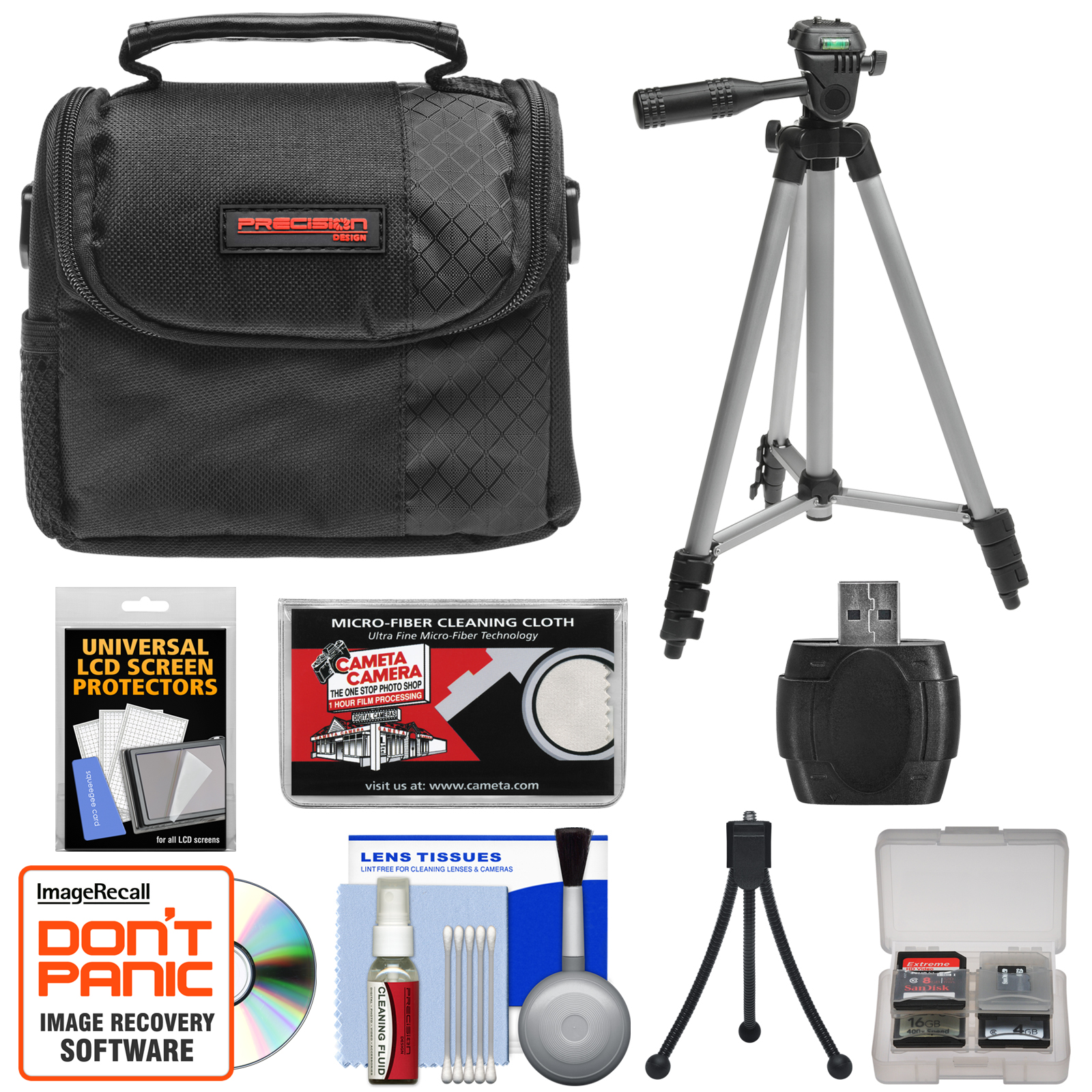 Accessory Kit for Select Nikon Coolpix Digital Cameras with Digital Camera Case, Compact Travel Tripod, and High-Speed USB 2.0 SecureDigital (SD) Card Reader