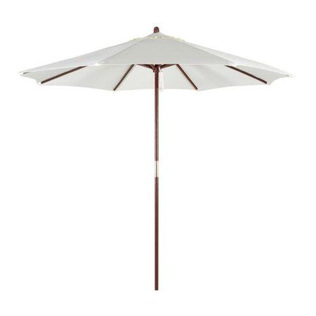 Astella PALM908-P10 9 ft Wood Market Umbrella with Pulley Lift, Polyester - Natural - image 1 of 1