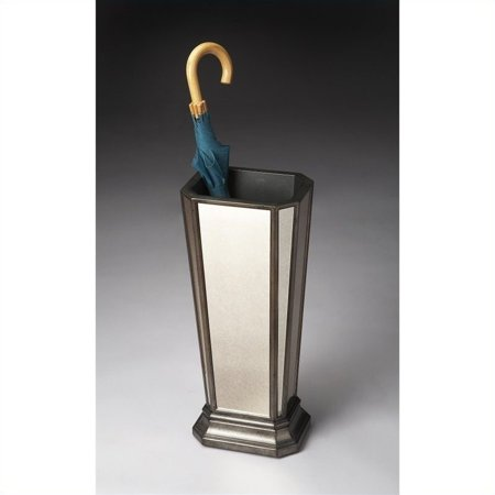 Beaumont Lane Mirrored Umbrella Stand in Pewter ()