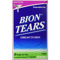 6 Pack Bion Tears Lubricant Eye Drops, Single-Use Vials - 28 Count