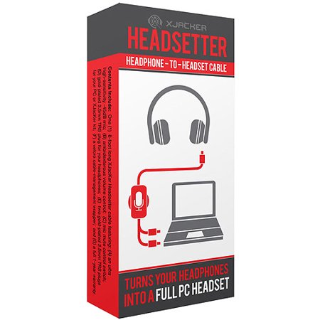 Image of XJacKer Headsetter Headphone-to-Headset Cable, Black