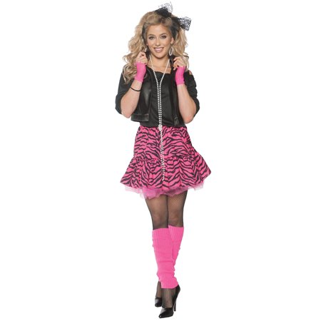 Rockin' The 80's Pink Adult Costume - 80's Halloween Outfits