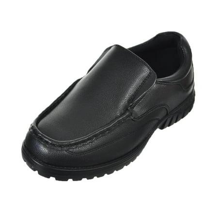 Easy Strider Boys' Slip-On Shoes (Sizes 10 - 12) (Black School Shoes For Boys)