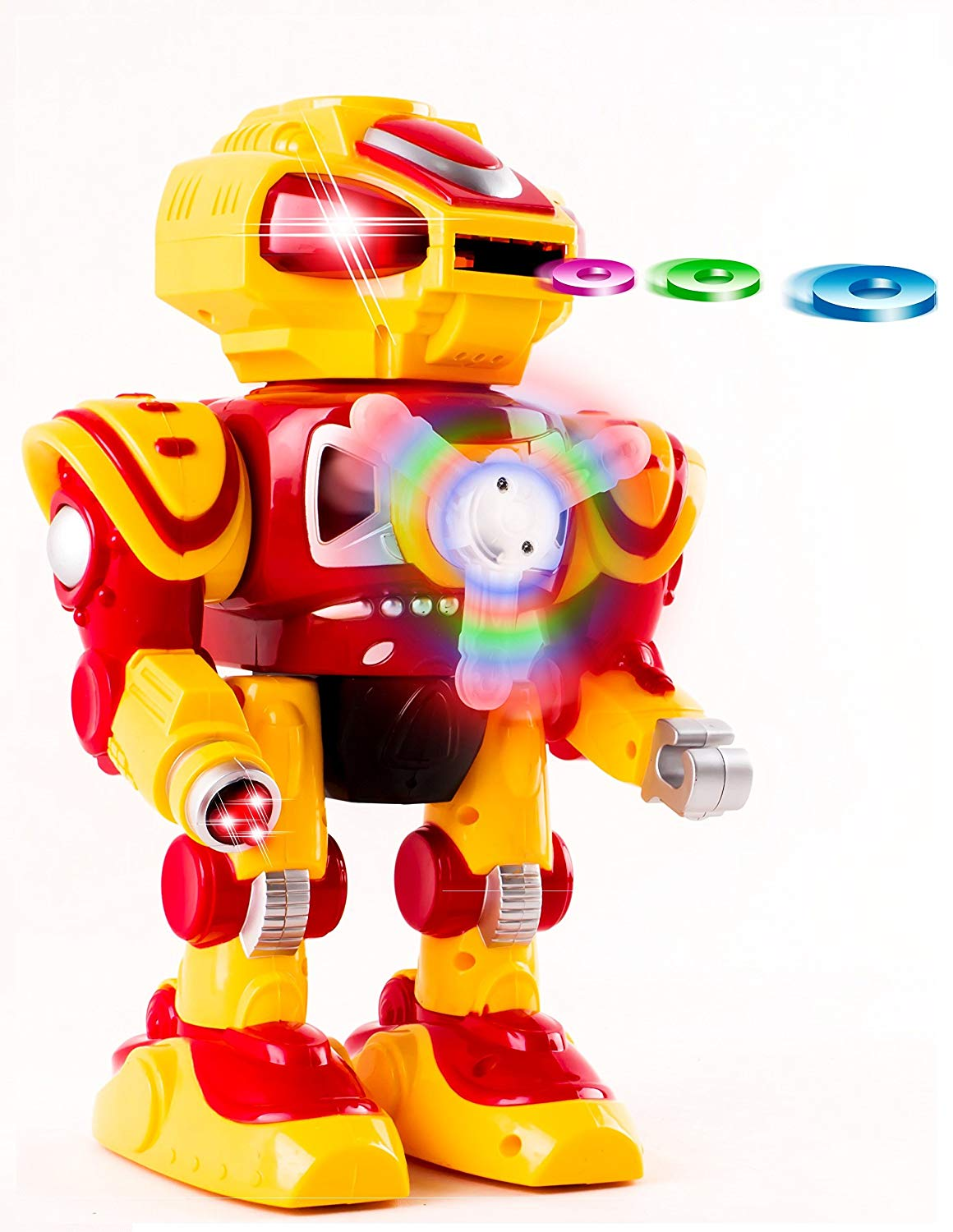 Super Android Toy Robot With Disc Shooting Walking Flashing Lights And Sound Features... by Vokodo