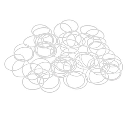 50pcs White Rubber O-Ring Seal Gasket Washer for Automotive Car 25 x 1mm - image 1 de 2
