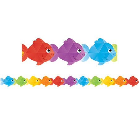 Colorful Borders (COLORFUL FISH DIE CUT BORDER)