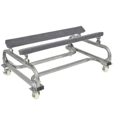 Best Choice Products 1000lb Marine Dock Slip Watercraft Cart PWC Boat Storage Dolly Stand - Silver/Gray