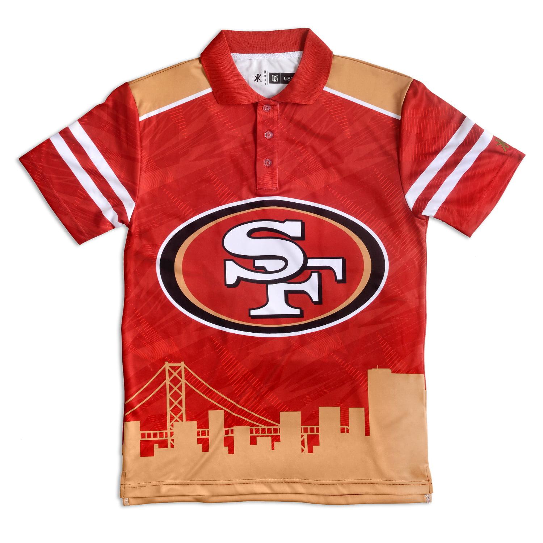"San Francisco 49ers NFL ""Thematic"" Skyline Men's Polo Shirt"