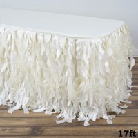 BalsaCircle urly Waves Taffeta Banquet Table Skirt - Wedding Party Trade Show Booth Events Linens Decorations