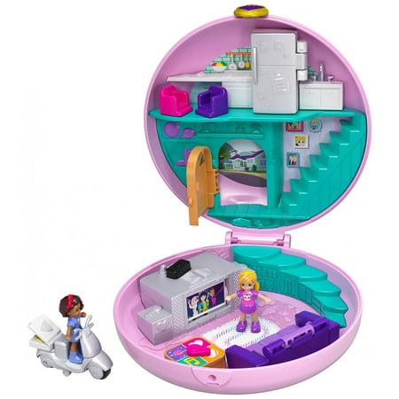 Polly Pocket Big Pocket World Donut Sleepover Pajama Party (Polly Wanna Bird Toy)