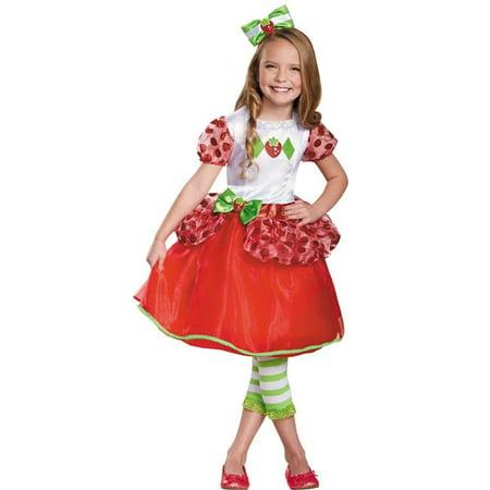 Morris Costumes DG84477L Strawberry Shortcake Deluxe Costume, Size 4-6](Strawberry Shortcake Makeup)