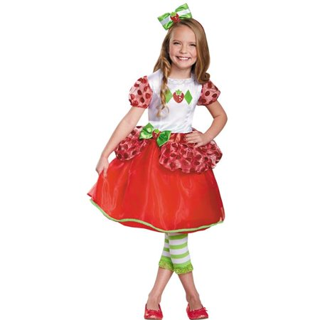 Morris Costumes DG84477L Strawberry Shortcake Deluxe Costume, Size 4-6 - Strawberry Shortcake Onesie