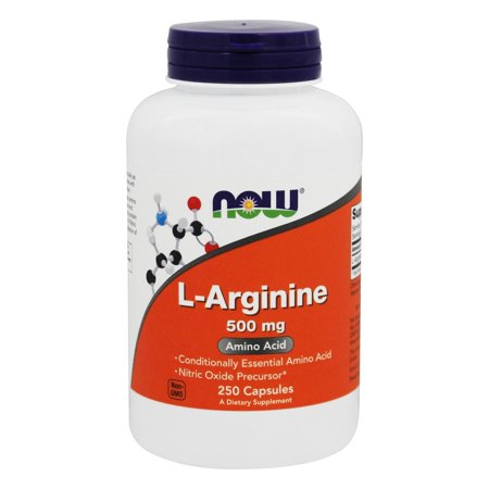 L-arginine 250 Caps (NOW L-Arginine 500 MG Capsules, 250 Ct )