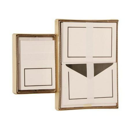 JAM Paper Stationery Combo Set, Black Border, 1 Small & 1 Large Set, 150/pack