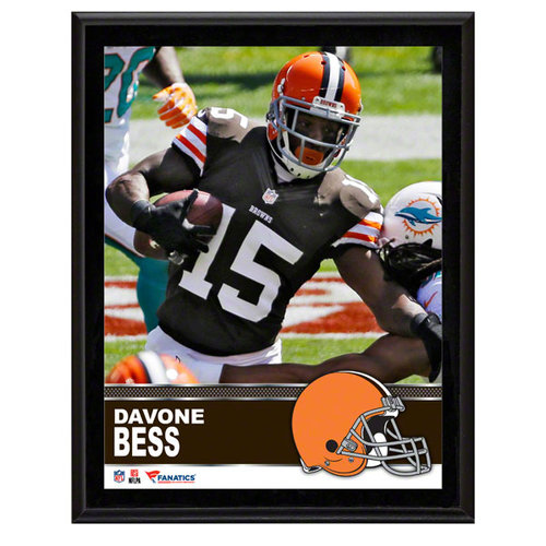 NFL - Davone Bess Cleveland Browns Sublimated 10x13 Plaque