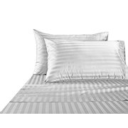 Hotel CollectionLuxury Egyptian Cotton Bed Sheet 1000 Thread count 100% Ultra Soft 4 Piece Stripe Sheet Set, King - White