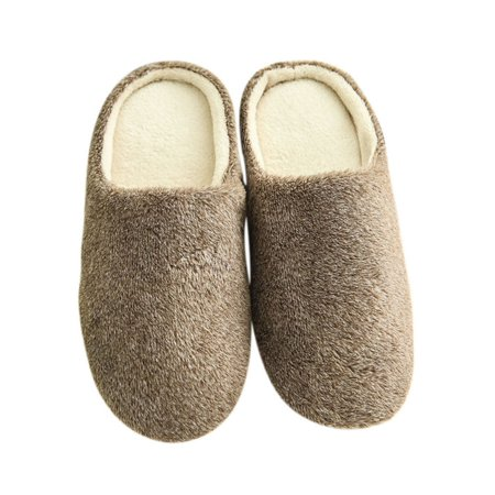 2210e664fb36 Esho - Women Men Winter Warm Fleece Anti-Slip Slippers Indoor House Shoes -  Walmart.com